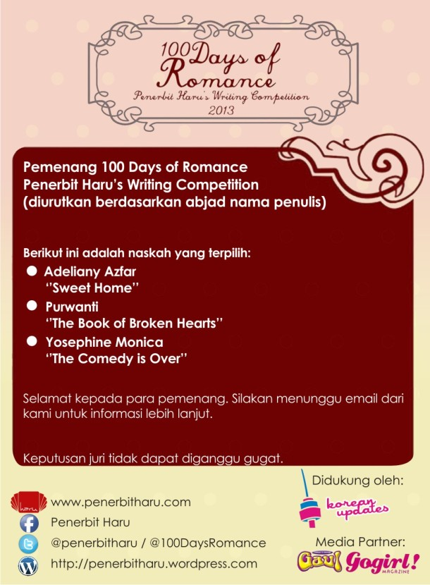pengumuman 100 day of romance(1)